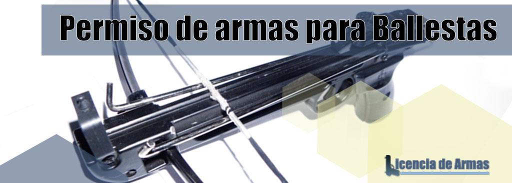 Las ballestas necesitan permiso de armas