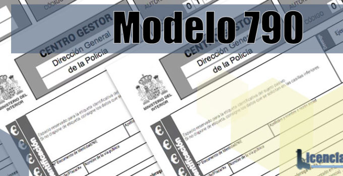 Modelo 790 para la Licencia de armas