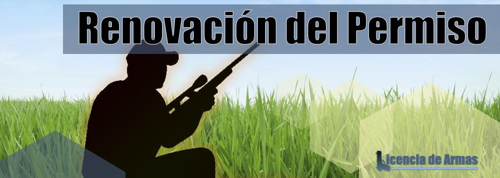Renovación licencia de armas
